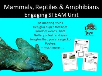 Project based learning: Mammals, Reptiles & Amphibians - STEAM, Biomimicry, KS1, NGSS