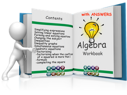 Algebra 14 page Workbook GCSE (with Full Solutions)