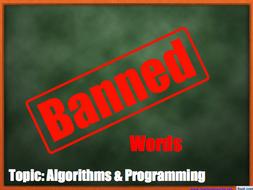GCSE Computer Science: Taboo words game (Algorithms & Programming)