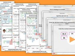FREE Year 5 Decimals up to 2d.p. Spring Block 3 Step 1 Maths Lesson Pack