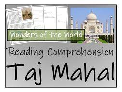 UKS2 History - Taj Mahal Reading Comprehension Activity