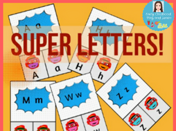 Matching Memory Game Super Letters