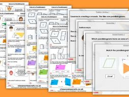 Year 6 Area of a Parallelogram Spring Block 5 Step 6 Maths Lesson Pack