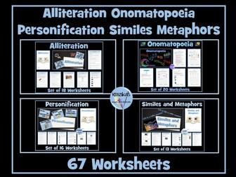Similes, Personification, Metaphor, Alliteration, Onomatopoeia