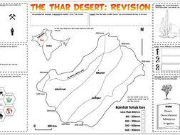 Hot Deserts: The Thar Desert A3 Revision Sheet