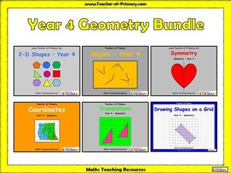 Year 4 Geometry Bundle