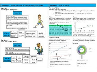 GCSE PE – Edexcel (9-1) – Warm-Up & Cool-Down and The Use of Data - Knowledge Organiser/Revision Mat