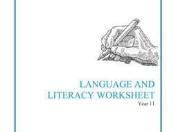 Senior Language and Literacy Worksheet