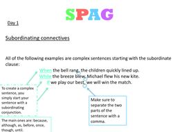 SPAG  Powerpoint for Starters/Short activites