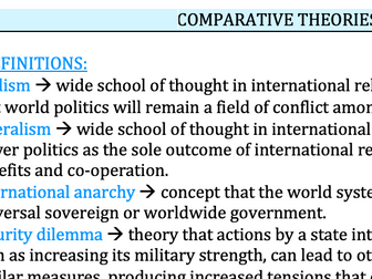 Comparative Theories - Edexcel Politics A-Level 9PL0