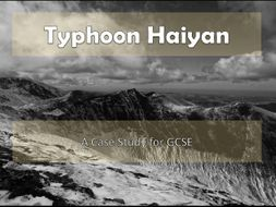 Typhoon Haiyan Case Study