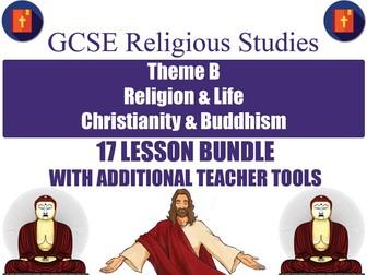 GCSE Christianity & Buddhism - Religion & Life (17 Lessons)