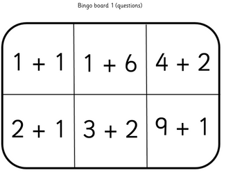 Addition Bingo: Numbers to 10