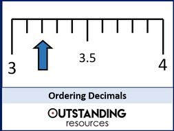 Ordering Decimals and FDP Equivalents (+ Worksheet)
