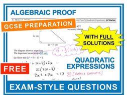 GCSE 9-1 Exam Question Practice (Algebraic Proof)