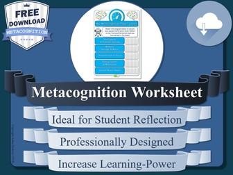 Free Metacognition Worksheet