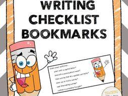 Writing Checklist Bookmarks FREEBIE!