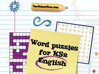 Word Puzzles For Key Stage 2 English