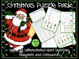 Christmas Word Searches / Christmas Anagrams / Christmas Crossords