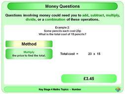 Money Questions KS4
