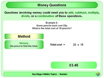 Money Questions KS4
