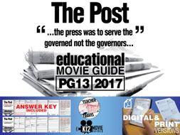 The Post Movie Guide | Questions | Worksheet (PG13 - 2017)