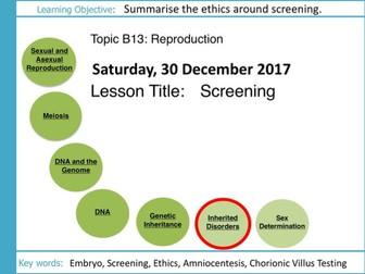 AQA GCSE: B13 Reproduction: L9 Screening