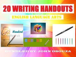 WRITING SCAFFOLDING NOTES - BUNDLE
