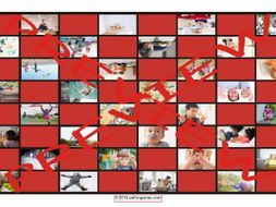 Childhood Activities Checker Board Game
