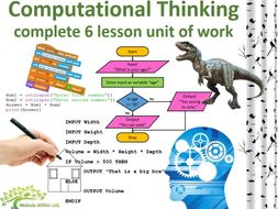 Computational Thinking in practice - 6 lesson unit of work (GCSE Computer Science and KS3 Computing)