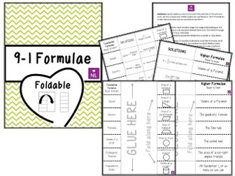 9-1 New specification Formulae Revision (Foldable)