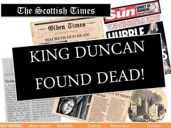 Macbeth lesson Act 2 Scene 3 Duncan's murder
