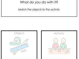 what do you do with it, object and task/ activity correspondence