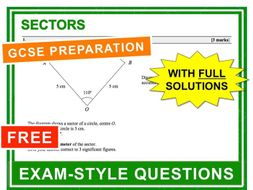 GCSE 9-1 Exam Practice (Sectors)