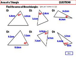 Trigonometry - Area of a Triangle