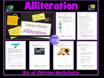 Alliteration  Worksheets