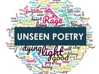 AQA A English Literature A Level - Unseen Poetry Comparison Questions