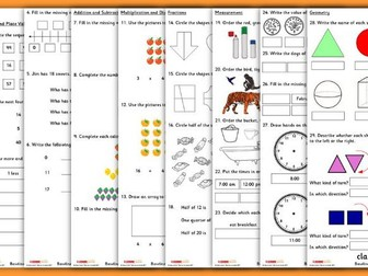Baseline Assessment for Year 2 Mathematics