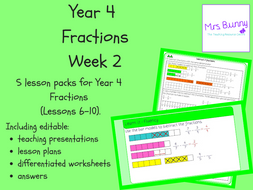 Year 4 Fractions Week 2