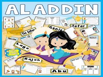 ALADDIN STORY TEACHING RESOURCES EYFS KS1-2 ENGLISH LITERACY GENIE LAMP