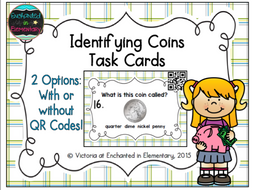 Identifying American Coins Task Cards