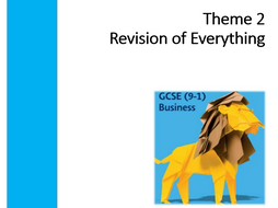 Edexcel 9-1 GCSE Business Theme 2 Revision of Everything