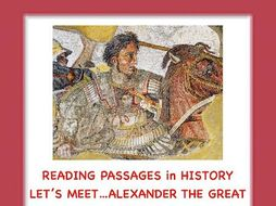 Alexander the Great! Reading Passage/Extension Activities