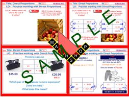 Direct Proportion 7 Complete Lessons
