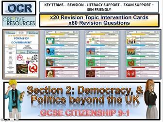 GCSE Citizenship Politics Beyond the UK Revision Topic Cards OCR
