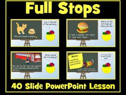 Full Stops and Capital Letters - PowerPoint Lesson