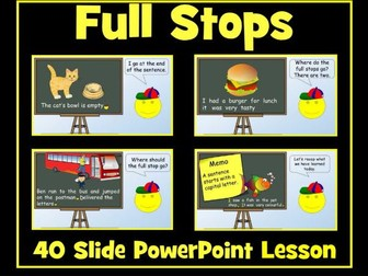 Full Stops and Capital Letters- 40 Slide PowerPoint Lesson
