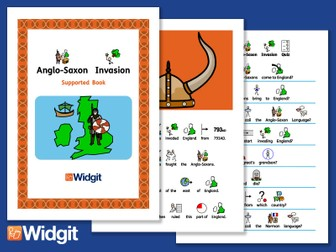 Anglo Saxons Invasion - History Book and Activities with Widgit Symbols