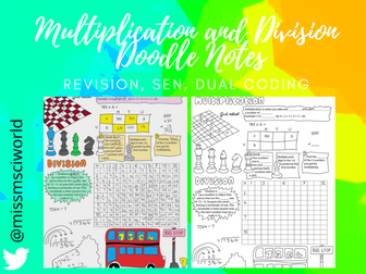 Multiplication & Division Maths Doodle Notes