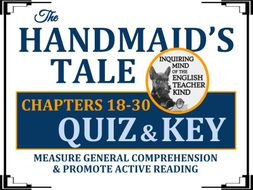 The Handmaid's Tale by Margaret Atwood Quiz - Chapters 18-30